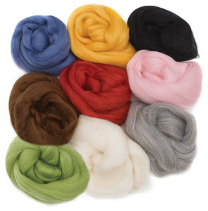 Natural Wool Roving