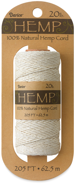 Hemp Cord Spool, White
