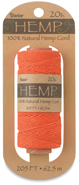 Hemp Cord Spool, Orange