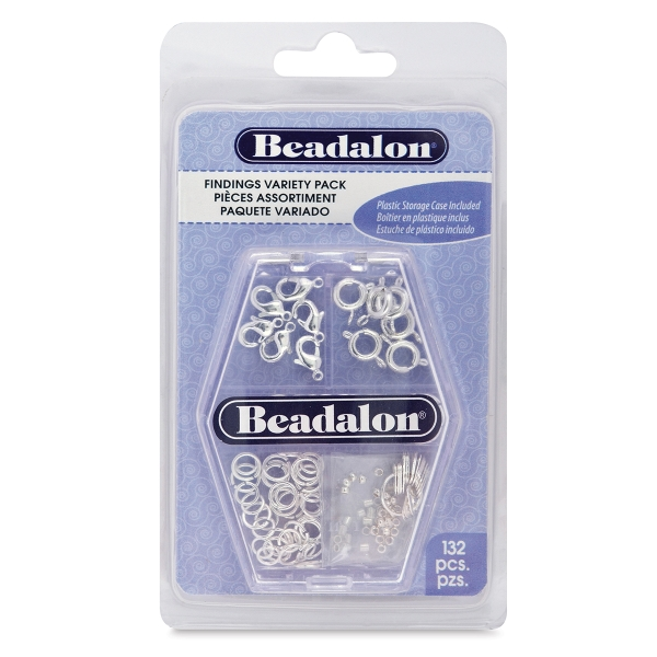 Jewelry Findings, Silver, Pkg of 132