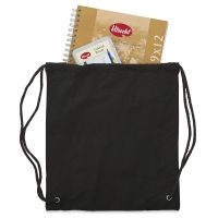 Drawstring Backpack, Black (Materials not included)