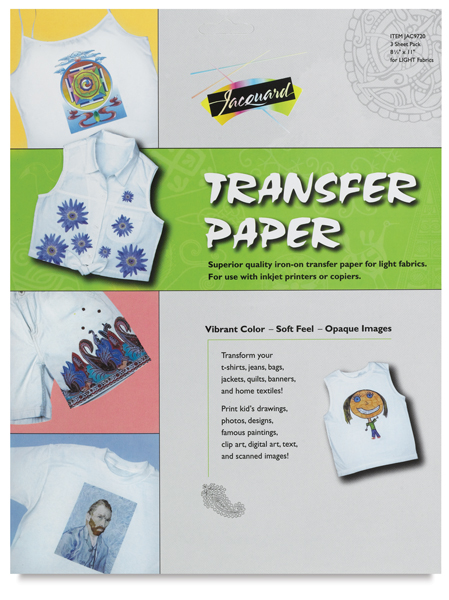 Iron-On Transfer Paper, Pkg of 3