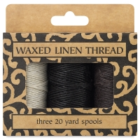 Neutral Pack, Waxed Linen Thread, Pkg of 3 Spools