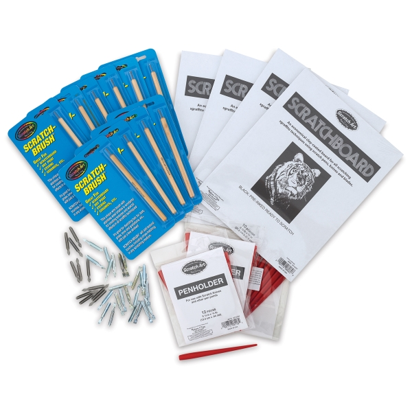 Black Scratchboard and Tools Classroom Pack