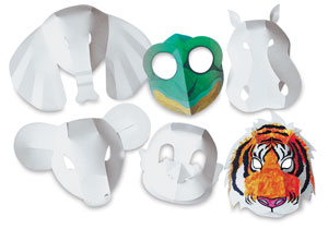 Wild Animal Fold-Up Masks, Package of 30