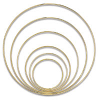 Large Gold-Tone Welded Macramé Rings
