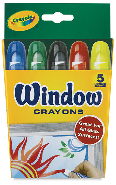 Washable Window Crayons, Set of 5
