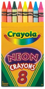 Neon Crayons, Set of 8