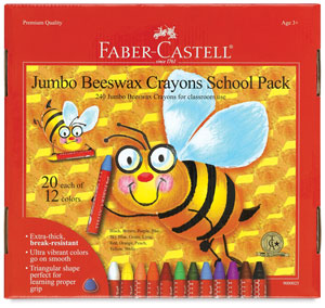Jumbo Beeswax Crayons, Class Pack of 240