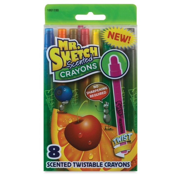 Scented Twistable Crayons, Set of 8