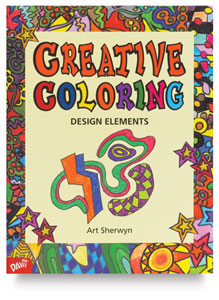 Creative Coloring Design Elements, 50 Pgs