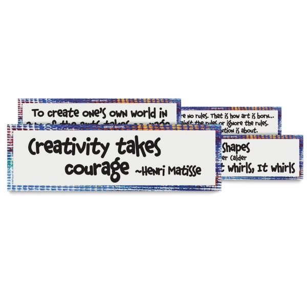 Art Display Cards, Artist Quotes, Set of 16