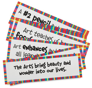 Art Display Cards, Why We Teach Art, Set of 16