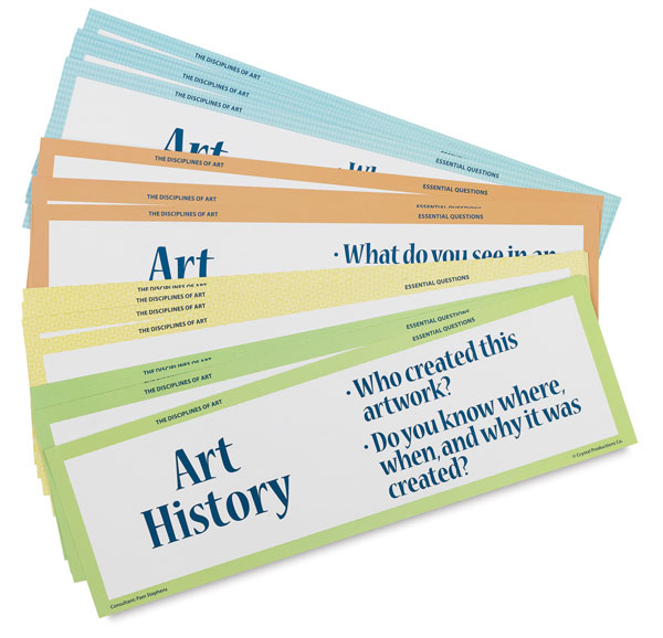 Art Display Cards, Disciplines of Art, Set of 16