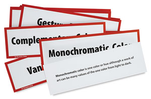 Art Display Cards, Vocabulary Set