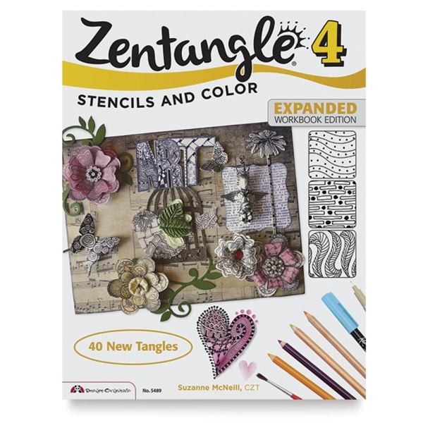 Zentangle 4, Expanded Workbook: Stencils and Color
