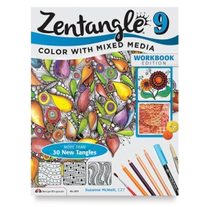 Zentangle 9, Expanded Workbook: Color With Mixed Media