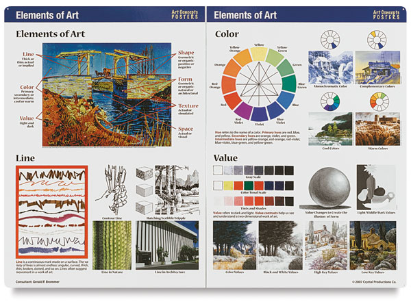 Elements Of Art Examples : Art concepts posters and cd roms blick materials