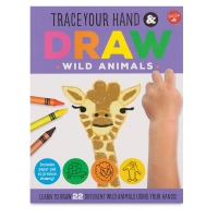 Trace Your Hand & Draw Wild Animals