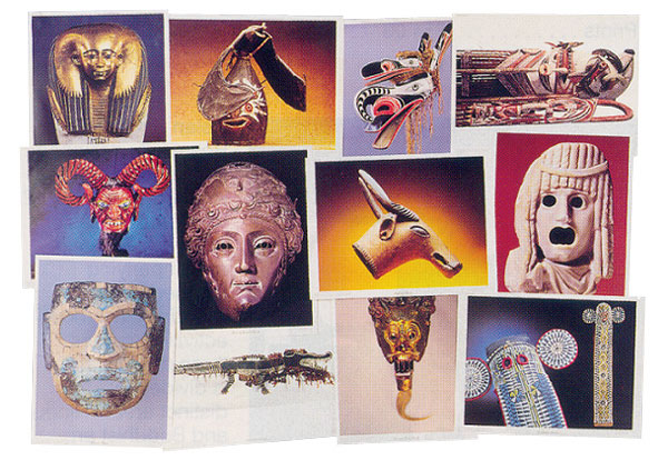 Cultural Masks Prints, Set of 12