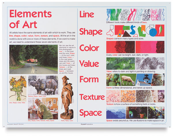 8 Elements Of Art : Elementary art and design posters blick materials