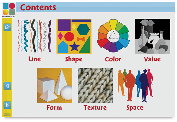 Elements Of Art Examples : Elements principles cd roms blick art materials