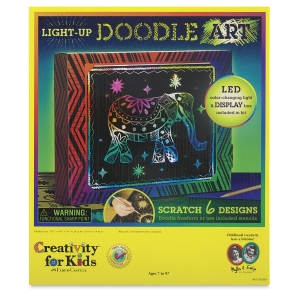 Faber-Castell Creativity for Kids Light-Up Doodle Art Kit