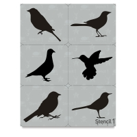 Bird Stencils, Set of 6