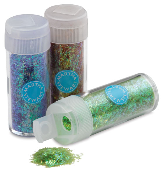 Iridescent Tinsel Glitter, 12 Pack