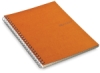 Grid Spiral Notebook, Orange, 70 Sheets