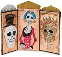 "Many Metals ""Day of the Dead"" Triptych"