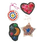 Melted Crayon Clay Ornaments