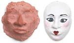Molded Clay Faces