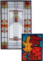 Prairie-Style Stained Glass Clings