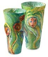 Tissue Vases from Recycled Containers