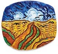 Van Gogh Clay Plaque