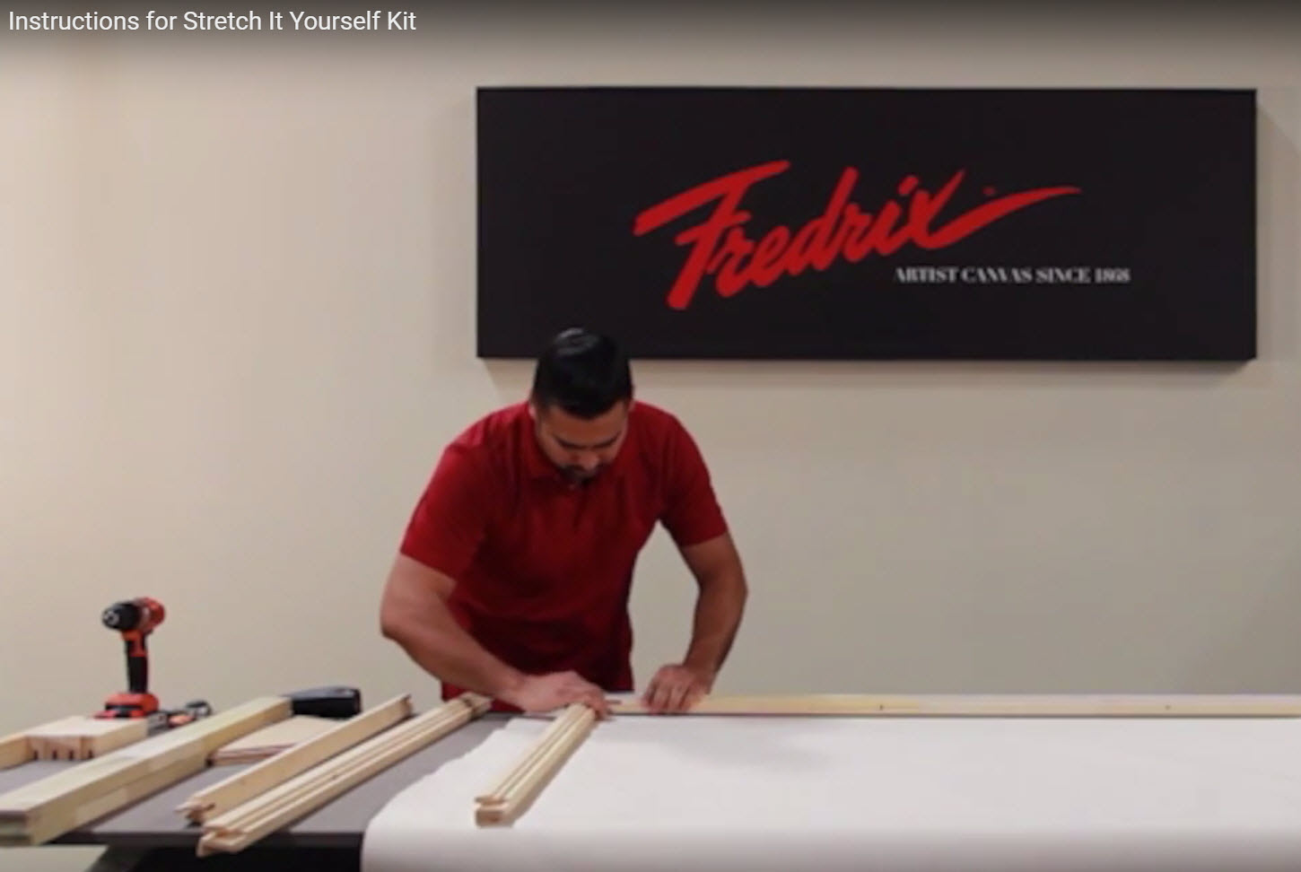 How to: Stretch It Yourself - Fredrix Pro Series Dixie Canvas Kit