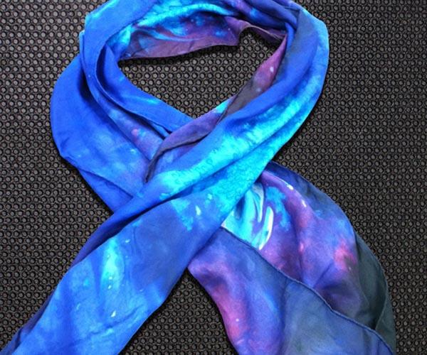 Dyed Silk Galaxy Scarf
