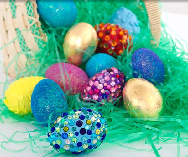 Embellished Plastic Eggs