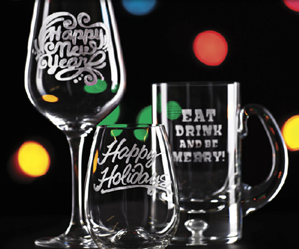 Holiday Glass Etching