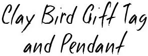 Clay Bird Pendant