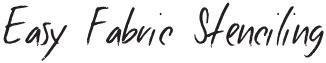 Easy Fabric Stencil