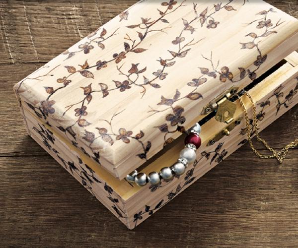 Woodburned Box