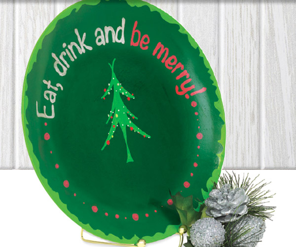 decorative holiday plates - Decorative Christmas Plates