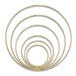 Gold-Tone Welded Macramé Rings