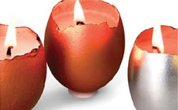 Eco-Friendly Eggshell Candles