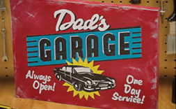 Vintage style painted sign
