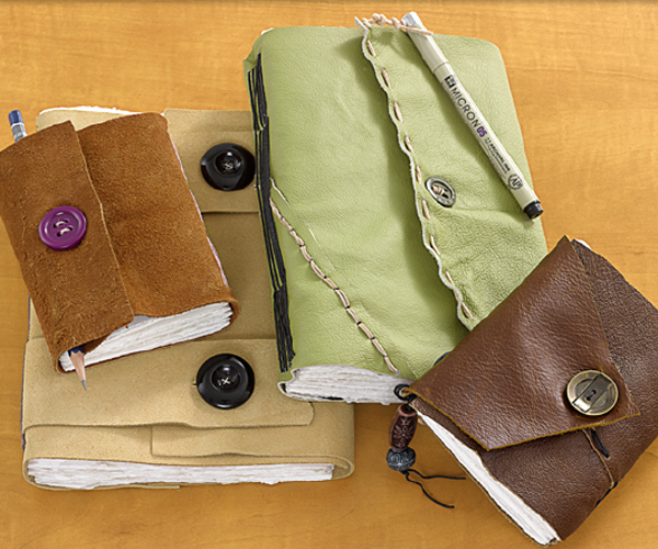 Leather Wrap Journals Project Ideas Blick Art Materials