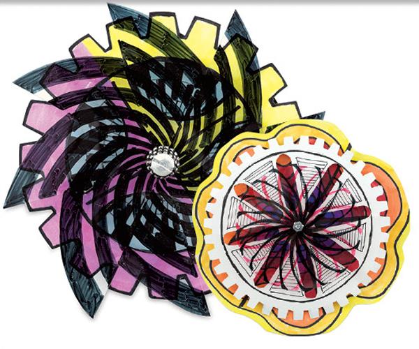 Op Art Spinners