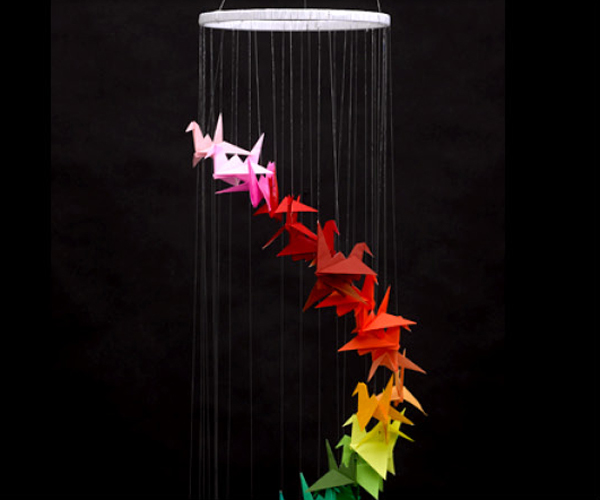 Origami Bird Mobile Project Ideas Blick Art Materials
